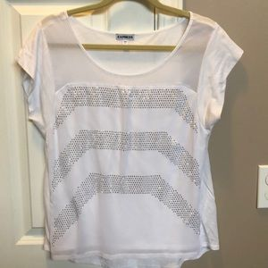Express white studded top